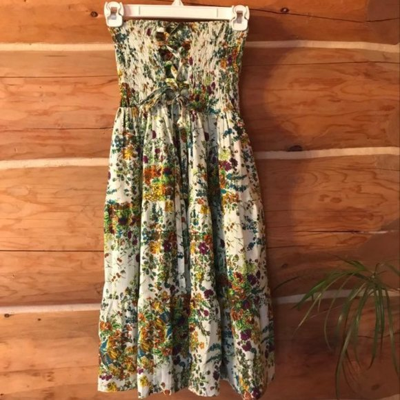 Funky People M Cotton Floral Dress